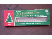 VINTAGE JOHN MENZIES - BOXED -20 ICICLE CHRISTMAS INDOOR LIGHTS
