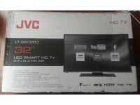 "BRAND NEW JVC LT-32C650 32"" SMART LED HD TV Freeview USB Record Pause & Play HDMI"