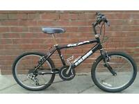 Black max Raleigh mountain bike