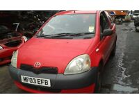 2003 Toyota Yaris 1.0 16v VVTi GS 3dr chilli red 3p0 BREAKING FOR SPARES