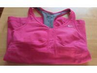 Nike Dri-fit pink sports top - medium