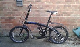 Unisex folding bicycle hardly used in excellent condition