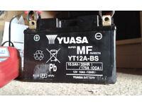 Yuasa Motorcycle Battery YT12A-BS Official Honda Battery For Honda VFR800 VETEC