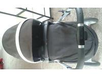 black and chrome complete silvercross pushchair