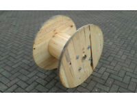 Wooden Reclaimed Industrial Cable Reel/Drum,Table, 90 cm x 58 cm