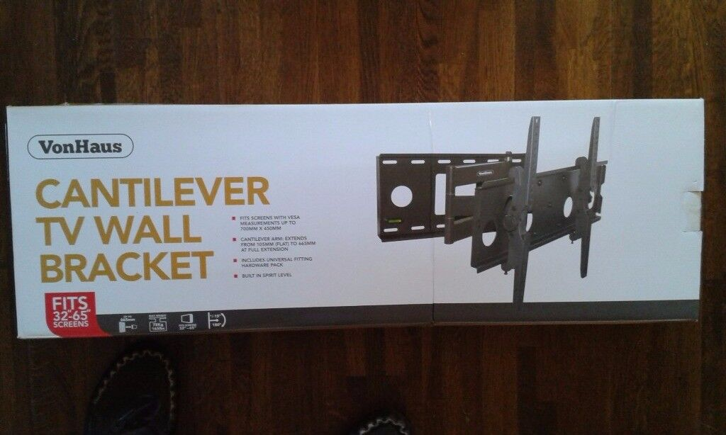 Cantilever tv wall bracket for 32-65 inch screen