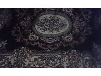 Woven Mat 160cm X 230cm about 5 feet by 9 feet, hard backing, hardly used