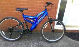 Mountain bike blue mono shock ( trade in old bikes)