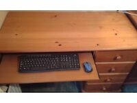 4 Draw Solid Pine Desk ideal for home or office
