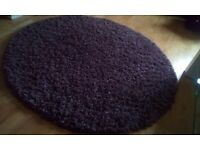 Round rug lilac lighter than pic