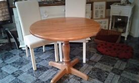 SMALL PINE DINING TABLE GOOD CONDITION