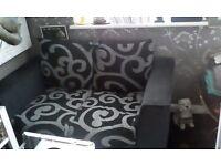 Black settee