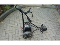 Electric golf trolley, battery and charger and cover