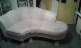 LARGE LEATHER VERY MODERN CHAISE LOUNGE SOFA ,