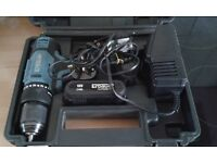 ERBAUER 18V CORDLESS DRILL& 2 BATTERYS CHARGER & CASE