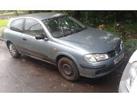 2001 Nissan Almera 1.5 E 3dr grey BREAKING FOR SPARES