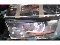 slide compound mitre saw, hardly used , box in poor condition. 230 volts. buyer collects