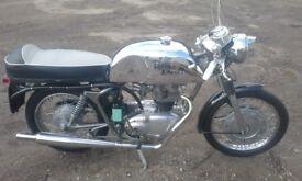 royal enfield cafe racer 1964.250cc crusader