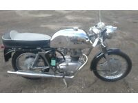 royal enfield cafe racer 1964.250cc crusader
