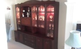 Rossmore mahogany display unit