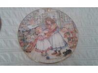 NSPCC Christmas Plates 1987, 1988, 1989, 1990,