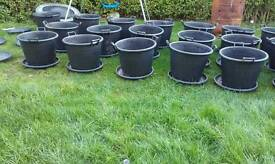 Heavy duty grow buckets with saucers