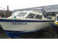 PROJECT BOAT FOR SALE 26FT VIKING CRUISER £1500 ONO