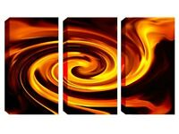 3 Panel Canvas -Gold Swirl - Reduced from £70.00 to clear BRAND NEW