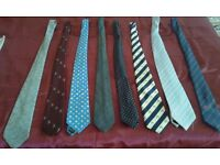 MEN's TIES. Lot of 8 ties in excellent condition,nice quality.£12 No splits.