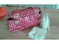 Storksak Mum / Baby Changing Bag with mat and bottle bag