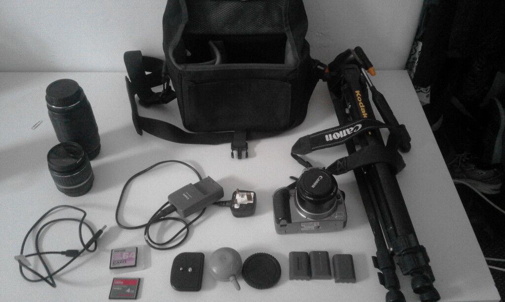 PHOTOGRAPHER BUNDLE: Canon DS126071 with lenses and gadgets! | in Skipton,  North Yorkshire | Gumtree