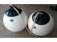 Two Round Boat Fenders in Good condition 36cm x 30cm