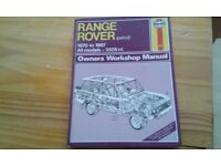 Range Rover work shop manual