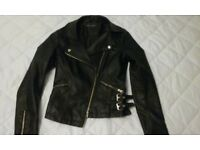 Miss Selfridge Black Leather Jacket