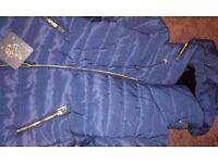 Ladies navy coat.