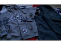ECKO UNLTD Hoodie Tracksuit Size M X 2 ( 1 Matching Black & 1 Grey )