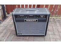 HiWatt Maxwatt series G50R solid-state 2 channel guitar amplifier with reverb.