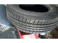 Tyre for Toyota jeep.