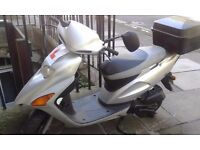 Honda SFX 50 scooter, careful owner city runaround & helmet padded jacket chain cover mot til 01.17