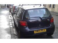 toyota yaris 1298cc black 05 plate 550 moted 1 year dec 018 exshust has slight rattle