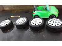 4x100 15 inch Vauxhall alloys 2 new tyres and two good tyres couple of marks on them £90