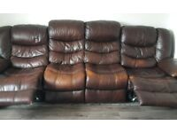 Free 4 seater sofa reclining both ends