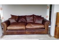 Large Brown quality Leather Sofa