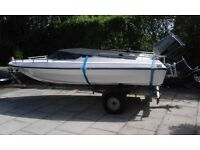 Dateline Bikini speed boat 16 foot boat with Suzuki Engine 65BHP and trailer