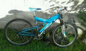 Mountain bike blue mono shock