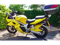 2001 Yellow Suzuki sv650s SK1