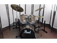 Retired drum teacher has a Pearl Export Fusion drum kit for sale