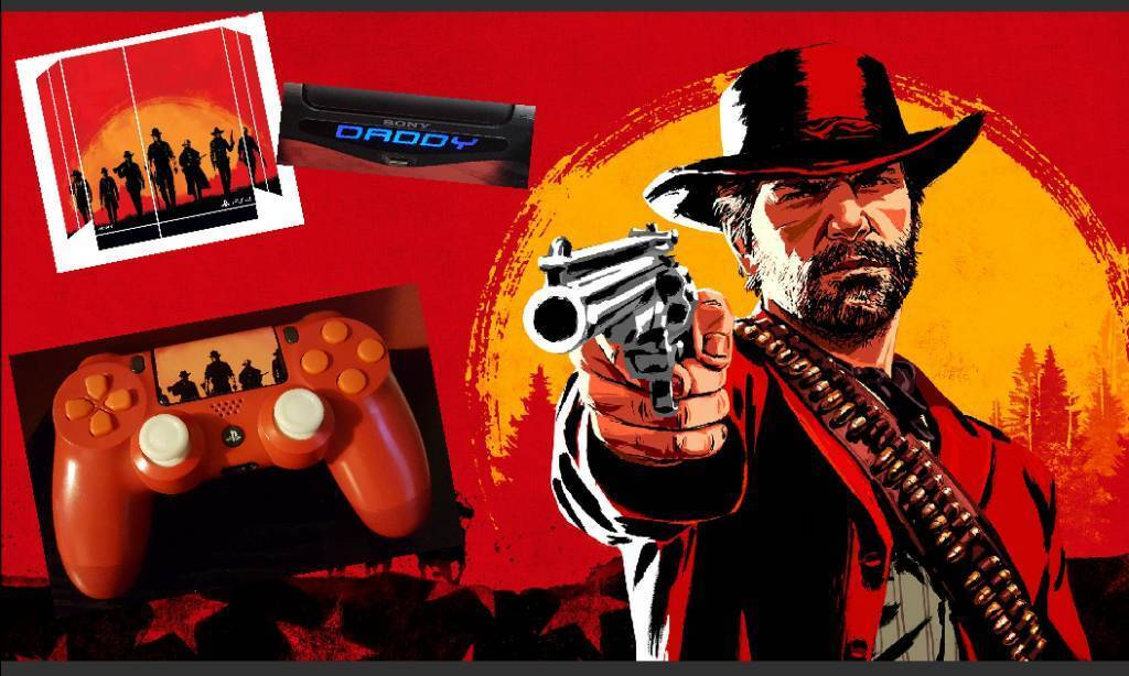 Official Sony PS4 Custom Controller 'Red Dead Redemption' | in Cwmbran,  Torfaen | Gumtree
