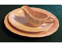 Retro serving plates and gravy jug