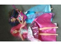 Barbie dolls.